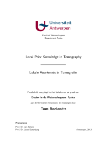 Thumbnail of page 1 of Local Prior Knowledge in Tomography