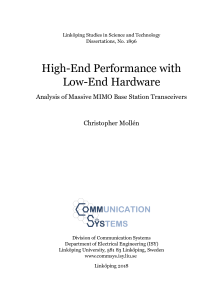 Thumbnail of High-End Performance with Low-End Hardware: Analysis of Massive MIMO Base Station Transceivers