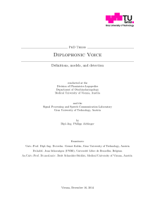 Thumbnail of Diplophonic Voice - Definitions, models, and detection