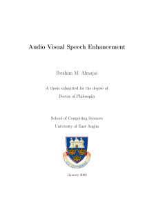 Thumbnail of Audio Visual Speech Enhancement
