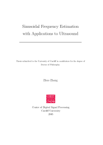 Thumbnail of Sinusodial Frequency Estimation with Applications to Ultrasound