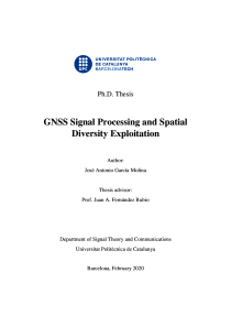 Thumbnail of page 1 of GNSS Signal Processing and Spatial Diversity Exploitation