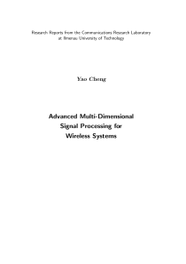 Thumbnail of Advanced Multi-Dimensional Signal Processing for Wireless Systems