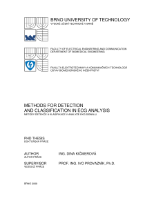 Thumbnail of Methods For Detection and Classification In ECG Analysis
