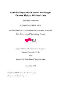 Thumbnail of Statistical-dynamical channel modeling of outdoor optical wireless links