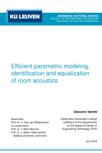 Thumbnail of Efficient parametric modeling, identification and equalization of room acoustics