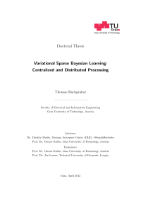 Thumbnail of Variational Sparse Bayesian Learning: Centralized and Distributed Processing