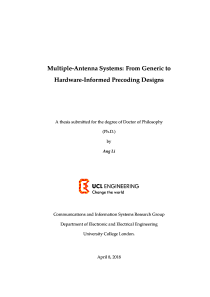 Thumbnail of Multiple-Antenna Systems: From Generic to Hardware-Informed Precoding Designs