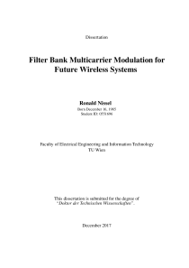 Thumbnail of page 1 of Filter Bank Multicarrier Modulation for FutureWireless Systems