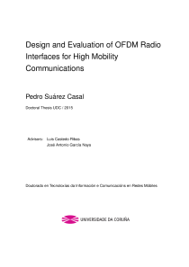 Thumbnail of Design and Evaluation of OFDM Radio Interfaces for High Mobility Communications