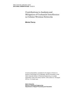 Thumbnail of page 2 of Contributions to Analysis and Mitigation of Cochannel Interference in Cellular Wireless Networks