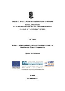 Thumbnail of page 3 of Robust Adaptive Machine Learning Algorithms for Distributed Signal Processing