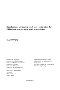 Thumbnail of page 3 of Equalization, windowing and zero restoration for OFDM and single-carrier block transmission