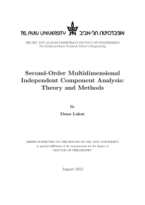 Thumbnail of page 1 of Second-Order Multidimensional Independent Component Analysis: Theory and Methods