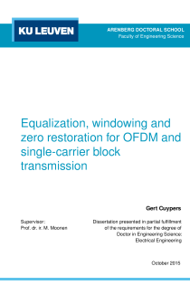 Thumbnail of page 1 of Equalization, windowing and zero restoration for OFDM and single-carrier block transmission