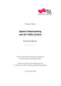 Thumbnail of page 1 of Speech Watermarking and Air Traffic Control