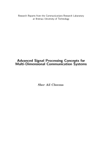 Thumbnail of page 1 of Advanced Signal Processing Concepts for Multi-Dimensional Communication Systems
