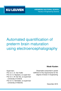 Thumbnail of Automated quantification of preterm brain maturation using electroencephalography