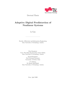 Thumbnail of page 1 of Adaptive Digital Predistortion of Nonlinear Systems