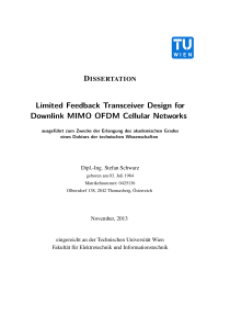 Thumbnail of Limited Feedback Transceiver Design for Downlink MIMO OFDM Cellular Networks