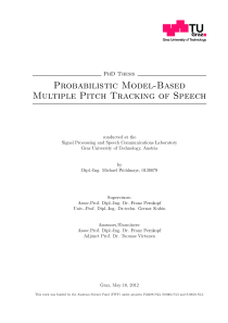 Thumbnail of Probabilistic Model-Based Multiple Pitch Tracking of Speech