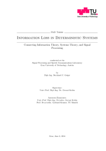 Thumbnail of Information Loss in Deterministic Systems