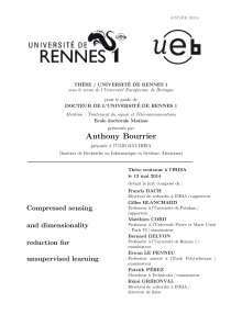 Thumbnail of Compressed sensing and dimensionality reduction for unsupervised learning