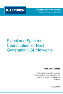 Thumbnail of page 1 of Signal and Spectrum Coordination for Next Generation DSL Networks