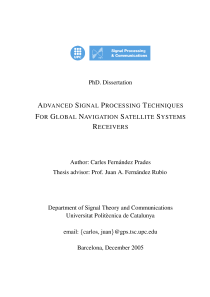 Thumbnail of Advanced Signal Processing Techniques for Global Navigation Satellite Systems
