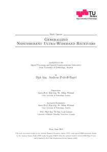 Thumbnail of Generalized Noncoherent Ultra-Wideband Receivers