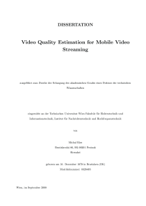 Thumbnail of page 1 of Video Quality Estimation for Mobile Video Streaming