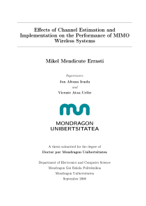 Thumbnail of Effects of Channel Estimation and Implementation on the Performance of MIMO Wireless Systems