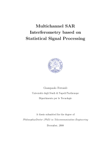 Thumbnail of Multichannel SAR Interferometry based on Statistical Signal Processing
