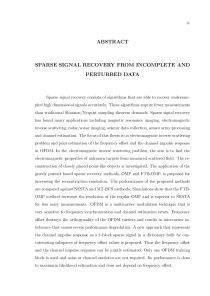 Thumbnail of page 4 of Sparse Signal Recovery From Incomplete And Perturbed Data