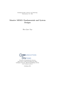 Thumbnail of Massive MIMO: Fundamentals and System Designs