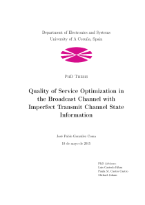 Thumbnail of page 3 of Quality of Service Optimization in the Broadcast Channel with Imperfect Transmit Channel State Information
