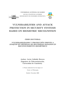 Thumbnail of Vulnerabilities and Attack Protection in Security Systems Based on Biometric Recognition