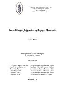 Thumbnail of page 2 of Energy Efficiency Optimization and Resource Allocation in Wireless Communication Systems