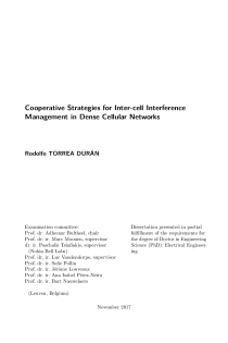 Thumbnail of page 1 of Cooperative Strategies for Inter-cell Interference Management in Dense Cellular Networks