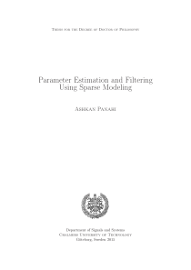 Thumbnail of Parameter Estimation and Filtering Using Sparse Modeling