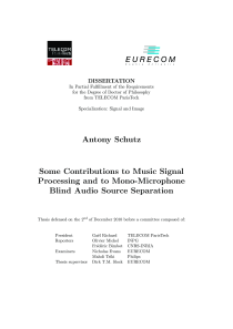 Thumbnail of page 3 of Some Contributions to Music Signal Processing and to Mono-Microphone Blind Audio Source Separation