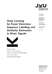 Thumbnail of Deep Learning for Event Detection, Sequence Labelling and Similarity Estimation in Music Signals