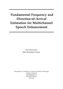 Thumbnail of Fundamental Frequency and Direction-of-Arrival Estimation for Multichannel Speech Enhancement