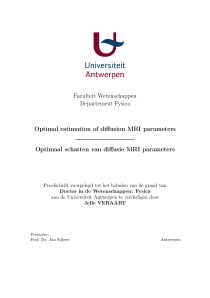 Thumbnail of Optimal estimation of diffusion MRI parameters