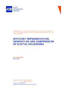 Thumbnail of Efficient representation, generation and compression of digital holograms
