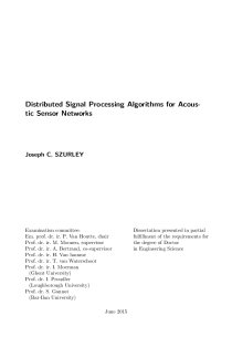 Thumbnail of page 3 of Distributed Signal Processing Algorithms for Acoustic Sensor Networks