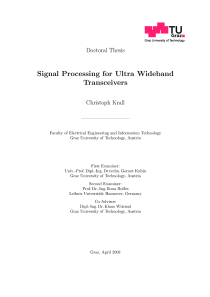 Thumbnail of Signal Processing for Ultra Wideband Transceivers