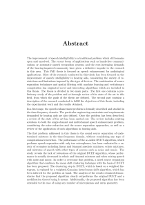 Thumbnail of page 3 of Speech Enhancement Algorithms for Audiological Applications