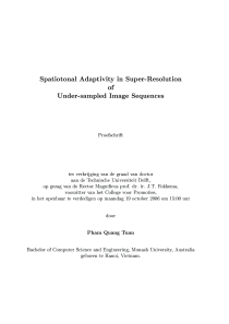 Thumbnail of Spatiotonal Adaptivity in Super-Resolution of under-sampled Image Sequences