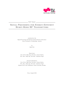 Thumbnail of page 1 of Signal Processing for Energy-Efficient Burst-Mode RF Transmitters